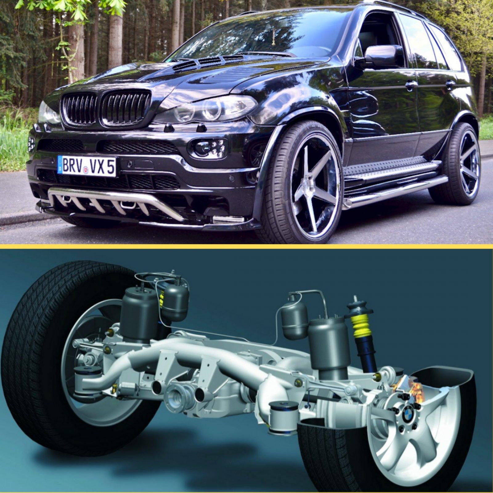 Відновлення задньої підвіски  BMW X5 (e53).