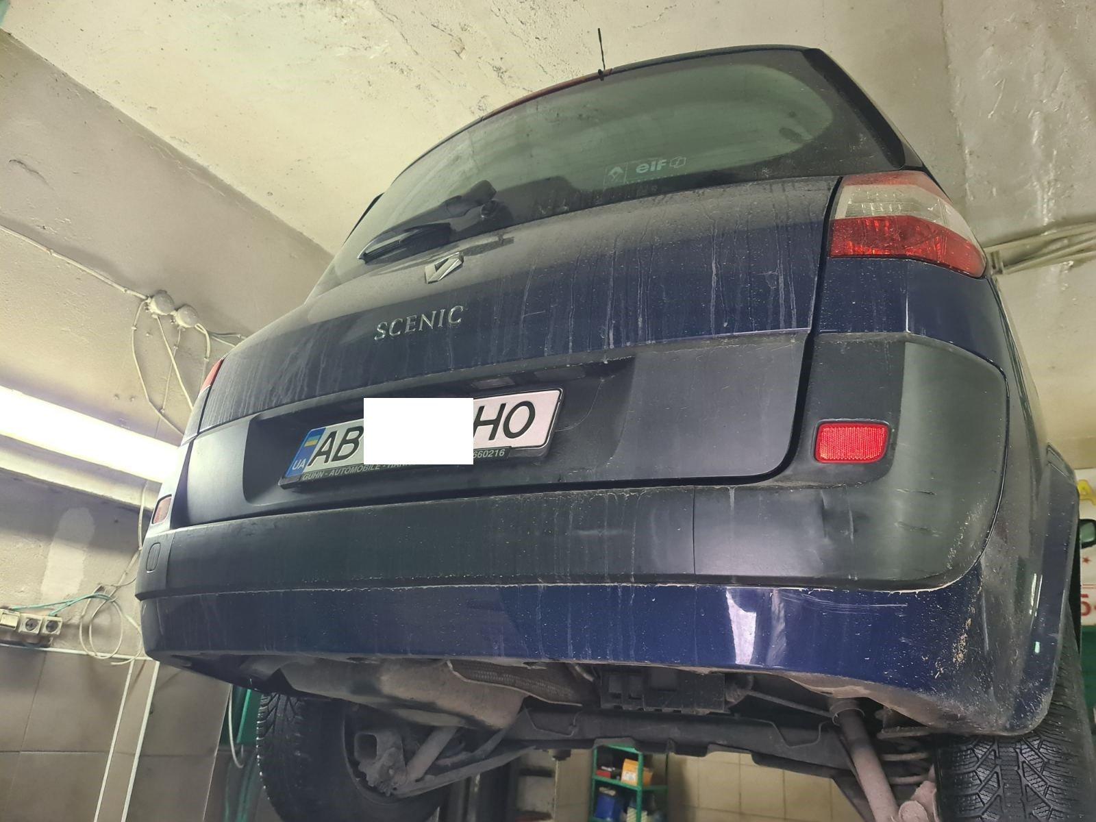 Renault Scenic  відновлення сайлентблоків переднього підрамника
