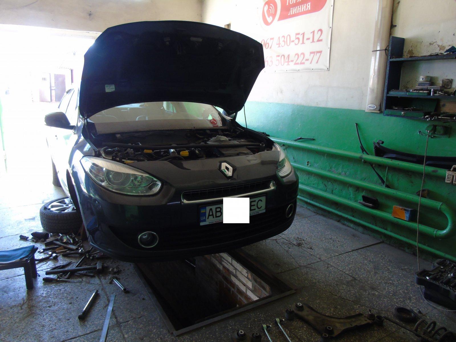 Відновлення сайлентблоків передніх важелів та встановлення посилених стійок стабілізатора на Renault Fluence